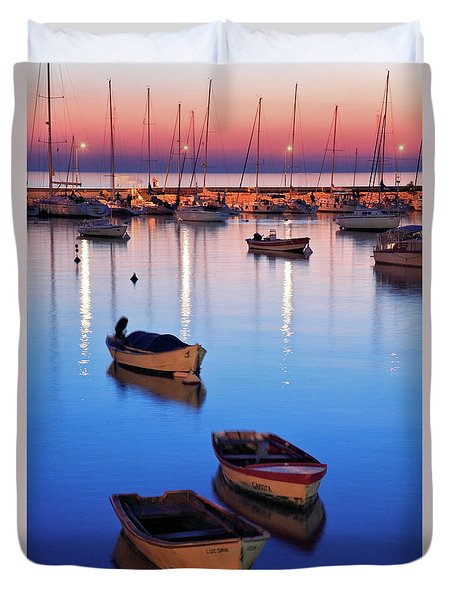 Duvet Cover featuring the photograph Boats by Bernardo Galmarini
