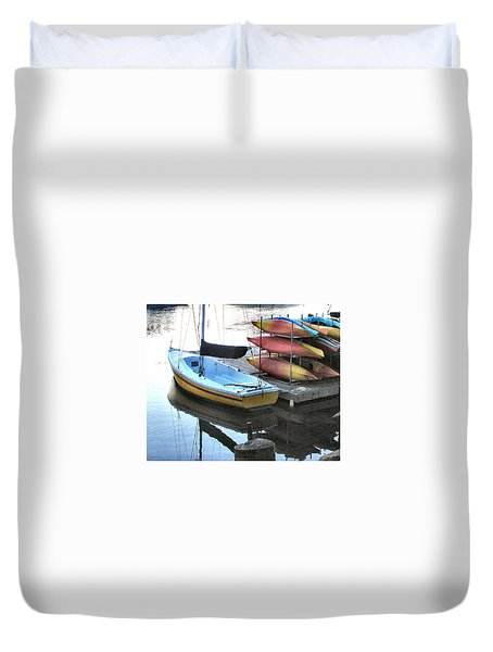 Boats For Rent Duvet Cover by Dana Patterson