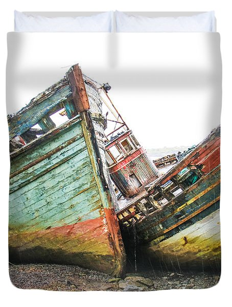 Boats Isle Of Mull 4 Duvet Cover