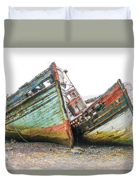 Boats Isle Of Mull 4 Duvet Cover
