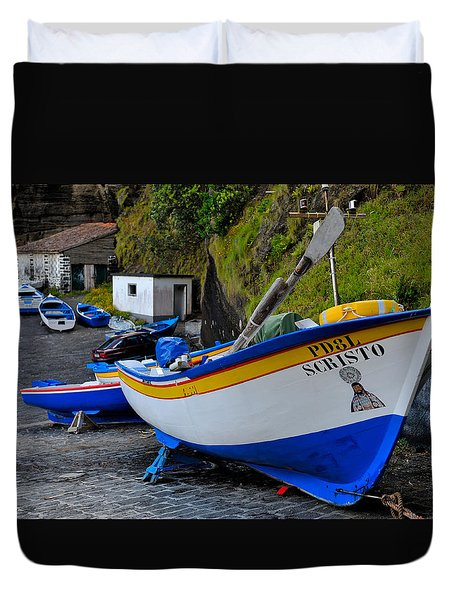Boats,fishing-19 Duvet Cover