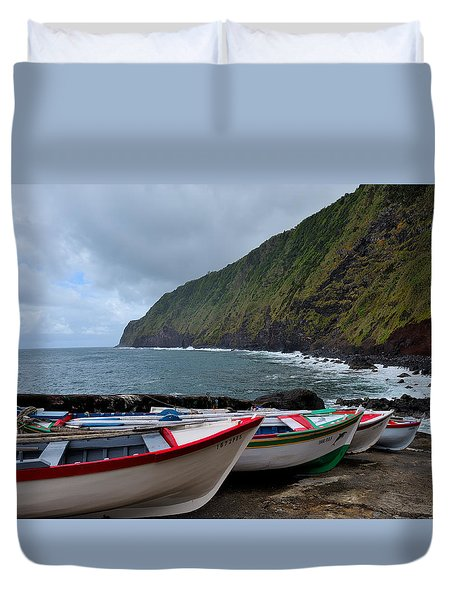 Boats,fishing-23 Duvet Cover