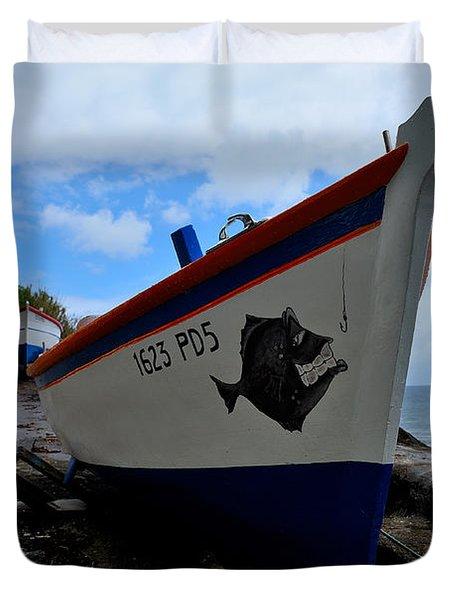 Boats,fishing-26 Duvet Cover