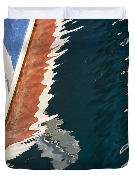 Boatside Reflection Duvet Cover
