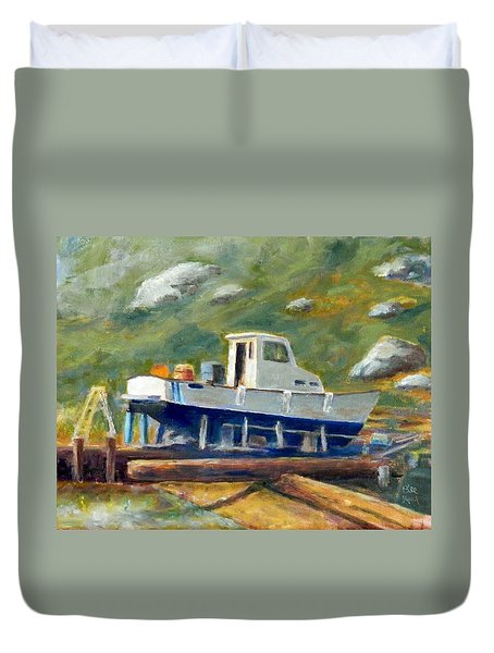 Boatyard II Duvet Cover