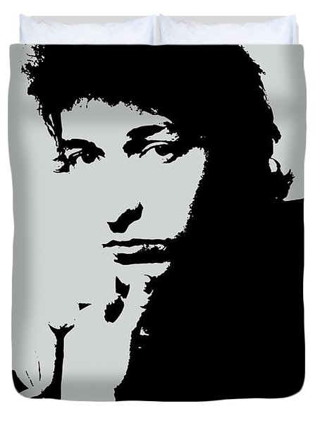 Bob Dylan Poster Print Quote - The Times They Are A Changin Duvet Cover
