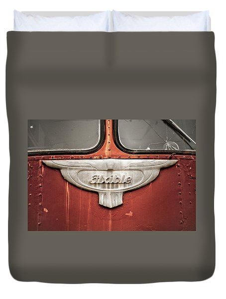 Bob Wills And His Texas Playboys Tour Bus Duvet Cover