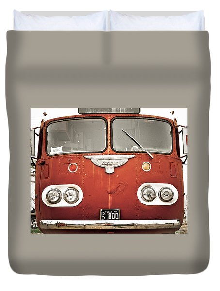 Bob Wills Bus Duvet Cover