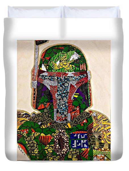 Boba Fett Star Wars Afrofuturist Collection Duvet Cover by Apanaki Temitayo M