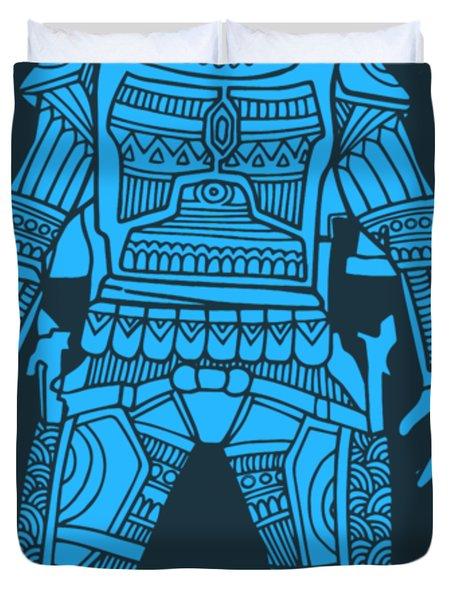 Boba Fett - Star Wars Art, Blue Duvet Cover