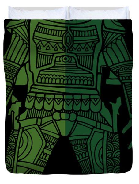 Boba Fett - Star Wars Art, Green 02 Duvet Cover