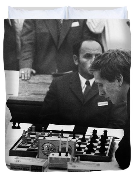 Bobby Fischer (1943-2008) Duvet Cover