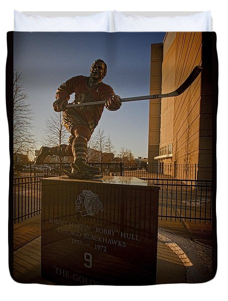 Bobby Hull Sculpture Duvet Cover