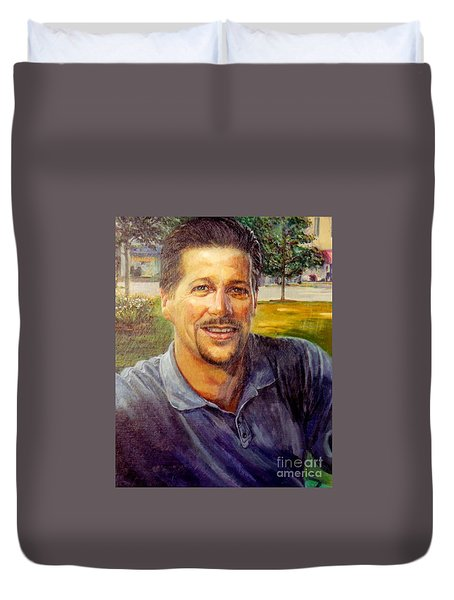 Duvet Cover featuring the painting Bobby by Stan Esson