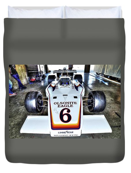 Bobby Unser's 1972 Indianapolis 500 Car. Duvet Cover