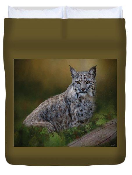 Bobcat On Alert Duvet Cover