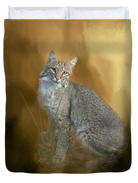 Bobcat Duvet Cover by Renee Trenholm