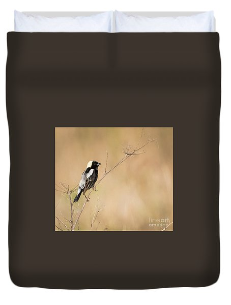 Duvet Cover featuring the photograph Bobolink  by Ricky L Jones