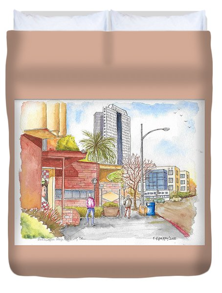 Bob's Coffee Shop In Riverside Dr., Burbank, California Duvet Cover