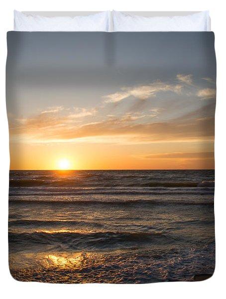 Boca Grande Sunset Duvet Cover