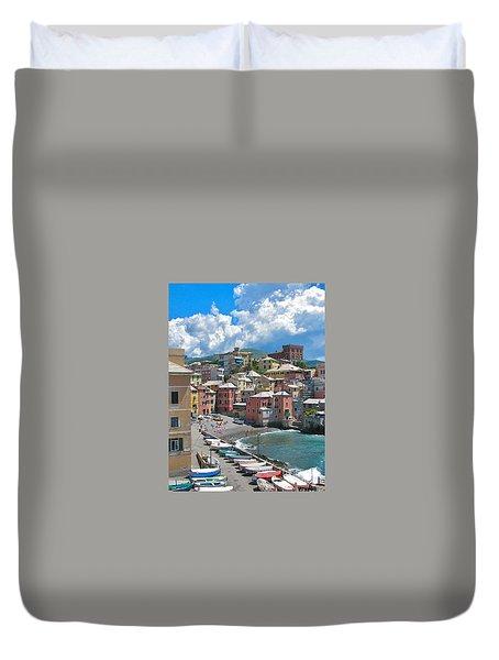 Boccadasse 2-genova, Italy Duvet Cover