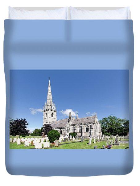 Bodelwyddan Church Duvet Cover by Steev Stamford