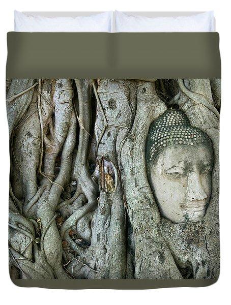 Bodhi Tree Buddha Head Duvet Cover