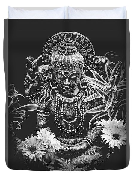 Duvet Cover featuring the photograph Bodhisattva Parametric by Sharon Mau