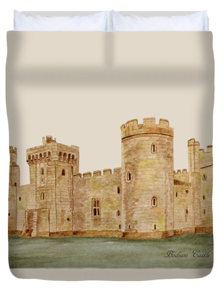 Bodiam Castle Duvet Cover