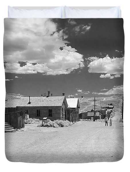 Bodie A Ghost Town Infrared  Duvet Cover by Christine Till