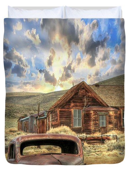 Bodie Ghost Town Duvet Cover