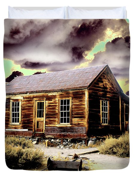 Duvet Cover featuring the photograph Bodie House by Jim and Emily Bush