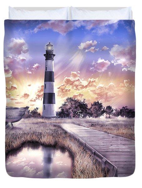 Bodie Island Lighthouse 4 Duvet Cover