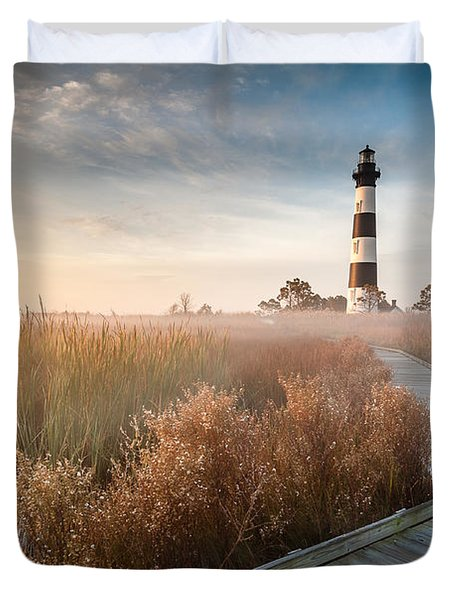 Outer Banks North Carolina Bodie Island Lighthouse Duvet Cover