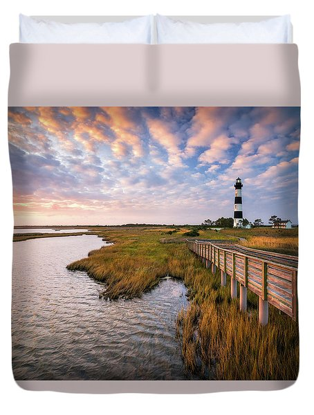 Bodie Island Lighthouse Outer Banks North Carolina Obx Nc Duvet Cover