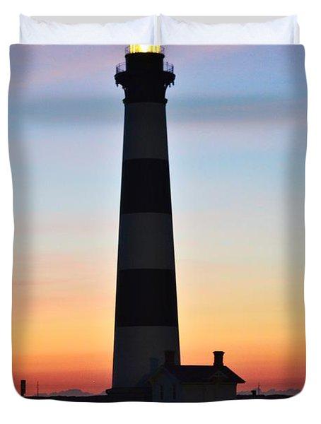 Bodie Lighthouse At Sunrise Duvet Cover