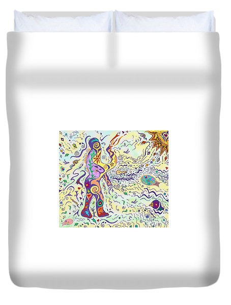 Bodies In Natural Flow Duvet Cover