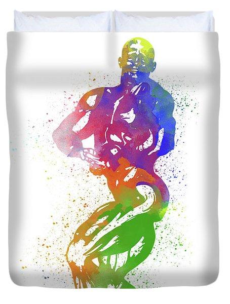 Bodybuilder Watercolor 2 Duvet Cover