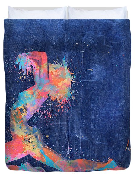 Bodyscape In D Minor - Music Of The Body Duvet Cover