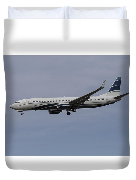 Boeing 737 Private Jet Duvet Cover