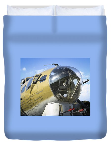 Duvet Cover featuring the photograph Boeing B-17 Flying Fortress by Ricky L Jones