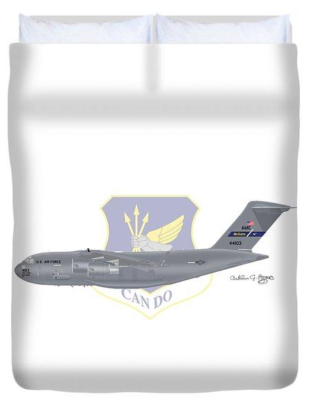 Boeing C-17 Globemaster IIi Mcguire Afb Duvet Cover by Arthur Eggers