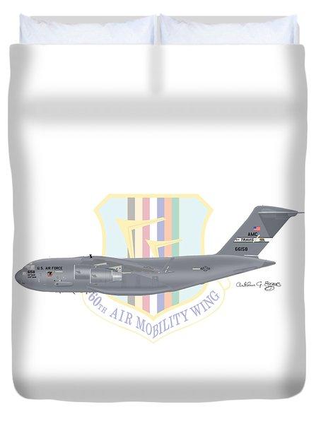 Boeing C-17 Globemaster IIi Travis Afb Duvet Cover by Arthur Eggers