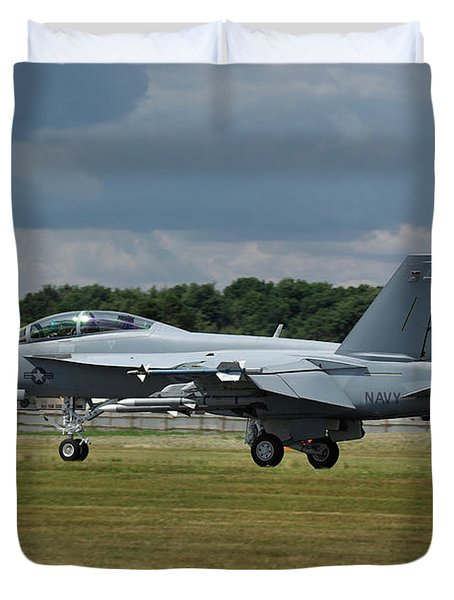 Boeing Super Hornet  Duvet Cover by Tim Beach