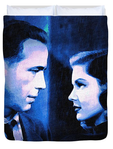 Bogart And Bacall - The Big Sleep Duvet Cover