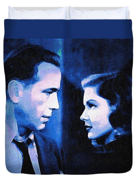 Bogart And Bacall - The Big Sleep Duvet Cover