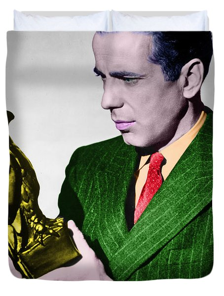 Bogart In Color With The Falcon Duvet Cover
