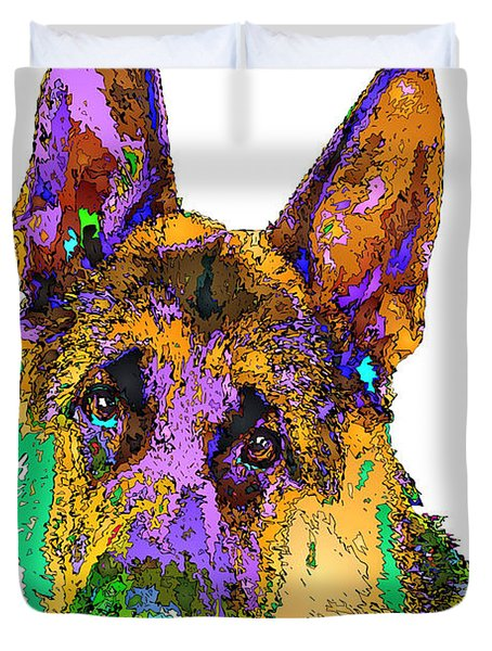 Bogart The Shepherd. Pet Series Duvet Cover