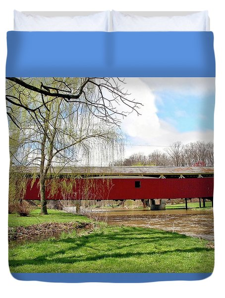 Bogert Covered Bridge Duvet Cover