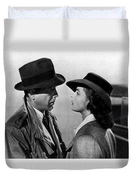 Bogey And Bergman Casablanca  1942 Duvet Cover